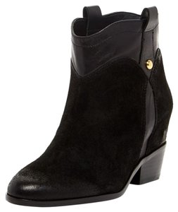Ivanka Trump Leather Suede Bootie Black Boots