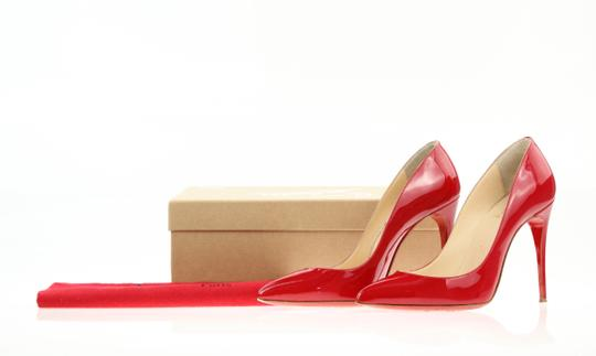 Christian Louboutin Leather Pointed Toe Red Pumps