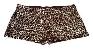 Kirra Mini/Short Shorts Black with Gold sequins