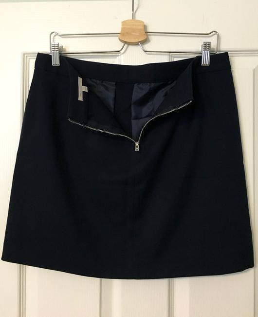 Gap Zippers Silver Work Mini Skirt Navy Blue