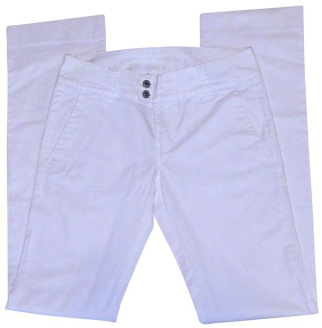 Diesel Leg Stretchy Straight Pants white