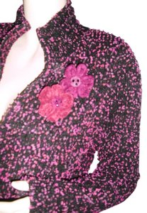 Preload https://item5.tradesy.com/images/doncaster-fuschia-and-black-zipfront-w-jewel-trim-fashionista-style-boutique-sweaterpullover-size-2--11994784-0-1.jpg?width=400&height=650