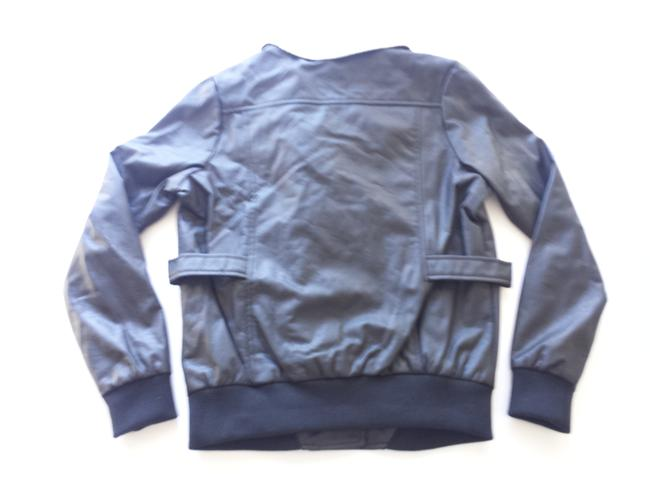 Jack Faux Bomber Brown Leather Jacket