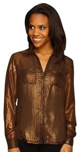 Jones New York Top Dusty Copper Metallic