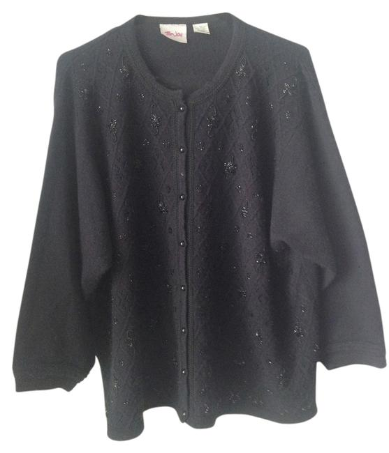 Preload https://item4.tradesy.com/images/tanjay-black-with-sequence-embroidery-design-xl-cardigan-size-16-xl-plus-0x-11994973-0-1.jpg?width=400&height=650