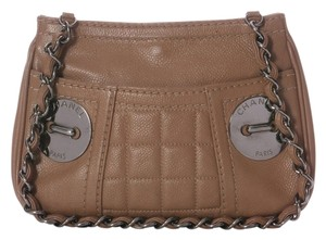Chanel Ch.h0131.06 Taupe Leather Tan Shoulder Bag