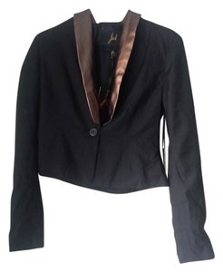 BB Dakota Faux Leather Rose Gold Black Blazer