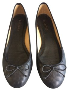 Talbots Ballet Leather Black Flats