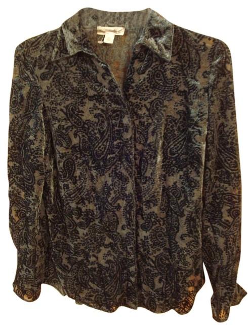 Preload https://item4.tradesy.com/images/coldwater-creek-green-paisley-burnout-shirt-womans-button-down-top-size-petite-2-xs-11995378-0-1.jpg?width=400&height=650