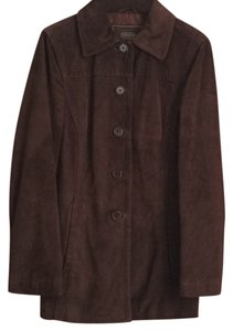 Coach Chocolate brown Leather Jacket