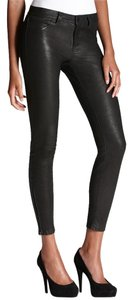 J Brand Leather Skinny Skinny Pants Black