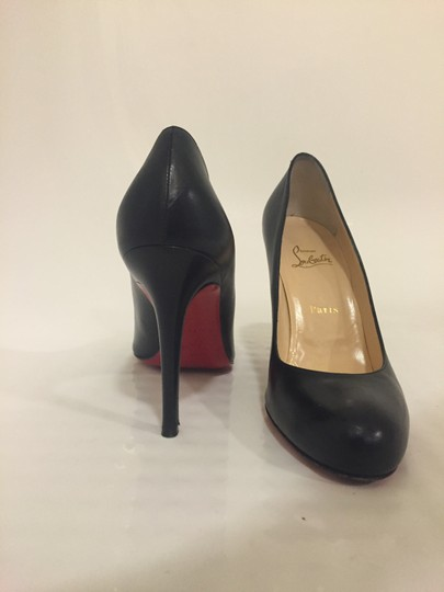 Christian Louboutin Cl Red Bottoms Simple Black Pumps