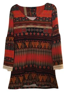 Miin short dress Multicolor Aztec Vintage Lace Trim on Tradesy