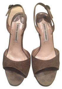 Manolo Blahnik Army green Sandals