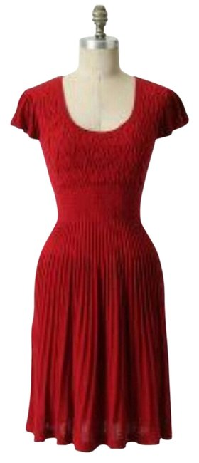 Preload https://img-static.tradesy.com/item/11996782/anthropologie-red-sparrow-sweater-cocktail-lover-amarena-knee-length-short-casual-dress-size-4-s-0-1-650-650.jpg