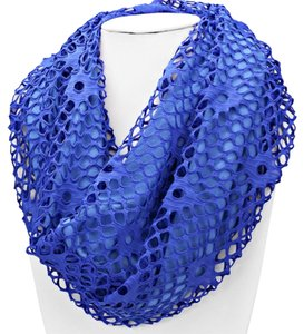 Blue Fishnet Jersey Double Sided Infinity Scarf