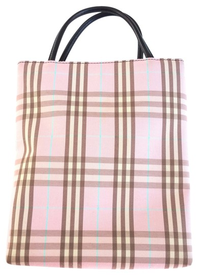 Preload https://item2.tradesy.com/images/burberry-london-novacheck-mini-purse-pink-plaid-canvas-leather-tote-11996986-0-3.jpg?width=440&height=440