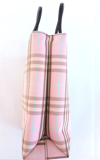 Burberry Novacheck Purse Tote in Pink, Plaid