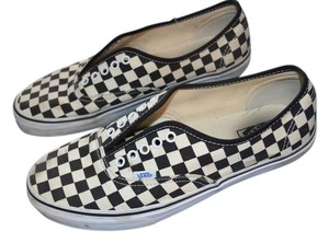 Vans Classic Checkered White/Black Flats