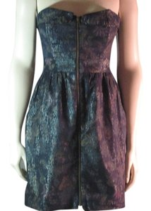 Urban Outfitters short dress Blue Shimmery Floral on Tradesy