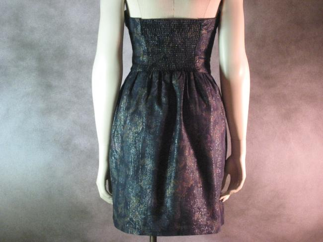 Urban Outfitters short dress Blue Shimmery Floral on Tradesy Image 1