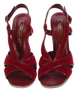 074969f53 Marc Jacobs Red Velvet and patent leather Sandals