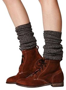 Free People Lace Up Suede Suede Lace Up Leather Brown Boots