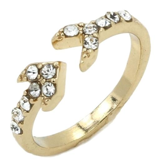 Preload https://item2.tradesy.com/images/crystal-embellished-and-gold-endless-arrow-ring-11997616-0-1.jpg?width=440&height=440