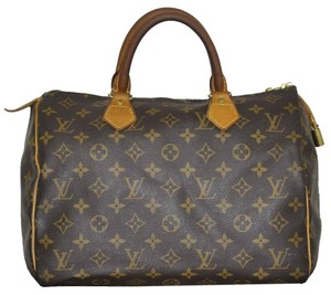 Louis Vuitton Speedy 30 Monogram Canvas Shoulder Bag