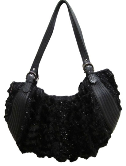 Preload https://item5.tradesy.com/images/salvatore-ferragamo-and-fur-knit-silver-black-leather-wool-fur-hobo-bag-11997769-0-1.jpg?width=440&height=440