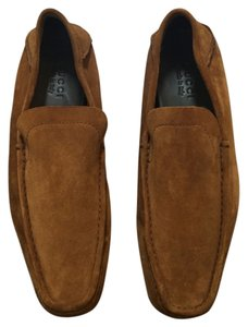 Gucci Suede Loafers Brown Flats
