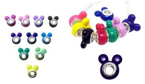 8 Pieces Mix Random Color Disney Mickey Minnie Mouse Ear Style Acrylic Beads DIY your Bracelet or Necklace