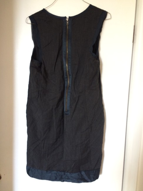 Development by Erica Davies short dress Slate blue/Navy and grey pinstripe on Tradesy