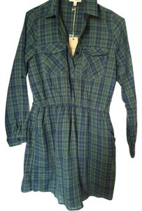 Freeway Apparel short dress Green plaid shirtdress on Tradesy