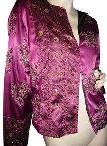Chico's fuschia, copper Jacket