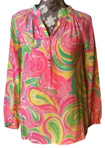 """Lilly Pulitzer Top Pink """"all nighter"""""""