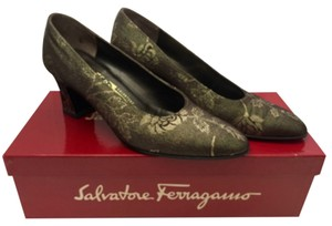 Salvatore Ferragamo Bronze Pumps