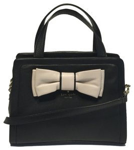 Kate Spade Murray Street Bow Satchel in Black/Pebble