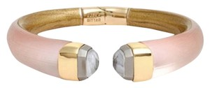 Alexis Bittar Alexis Bittar Blush Pink Lucite And Crystal Hinged Bracelet New With Tags
