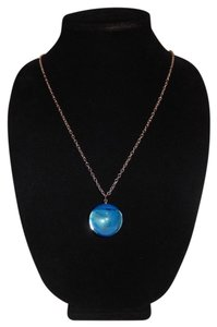 Other Blue Real Marble Ball Pendant 30