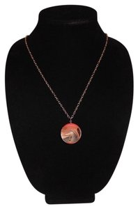 Other Orange Real Marble Ball Pendant 30