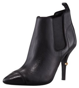 Tory Burch Bernice Pointy Toe Leather Ankle Black Boots
