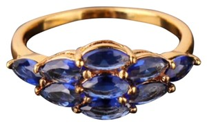 Yellow Gold Filled And Sapphire