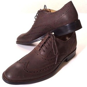 Cole Haan Williams Mens Brown Chestnut Leather Oxford Wingtip Dress Shoes