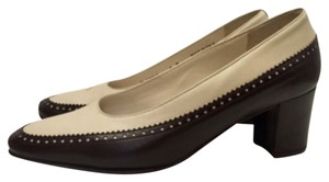 Bally Cream/ Brown Pumps