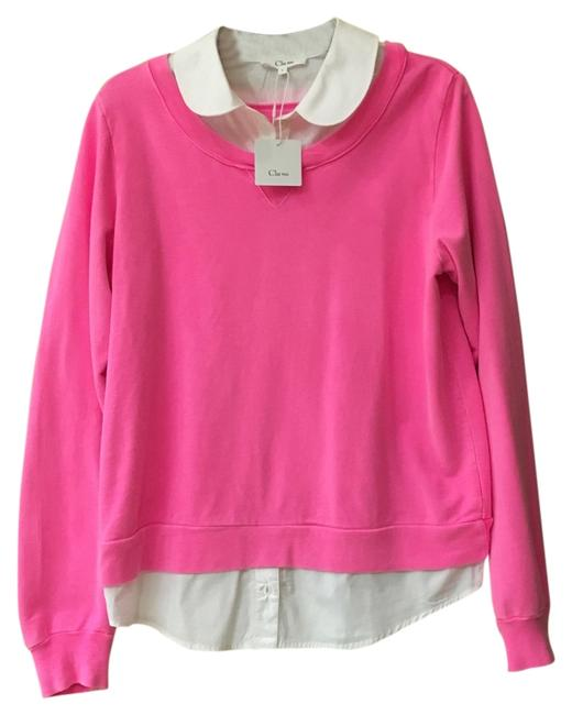 Preload https://item1.tradesy.com/images/pink-with-white-15clt114-t-sweatshirthoodie-size-12-l-12000190-0-1.jpg?width=400&height=650