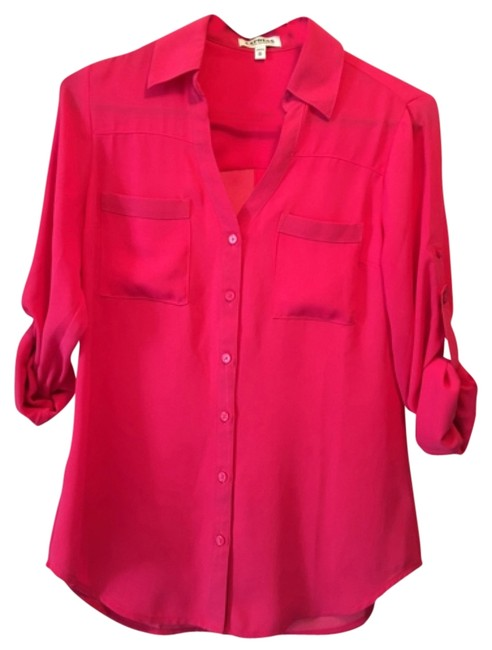 Preload https://img-static.tradesy.com/item/12000334/express-pink-portofino-button-down-top-size-2-xs-0-1-650-650.jpg