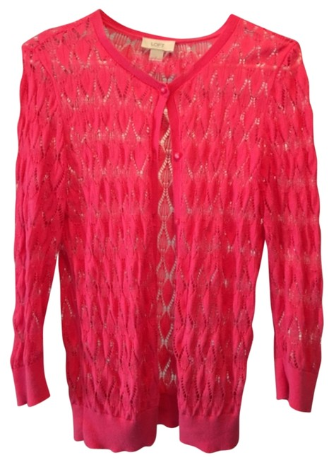 Preload https://item5.tradesy.com/images/ann-taylor-loft-pink-cardigan-size-6-s-12000469-0-1.jpg?width=400&height=650