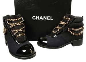 Chanel Black & Navy Boots