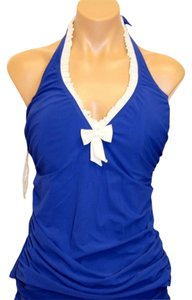 Profile SWIMSUIT 14 - 16 36D NWT Profile by Gottex Tankini TOP ONLY SEA BLUE $98